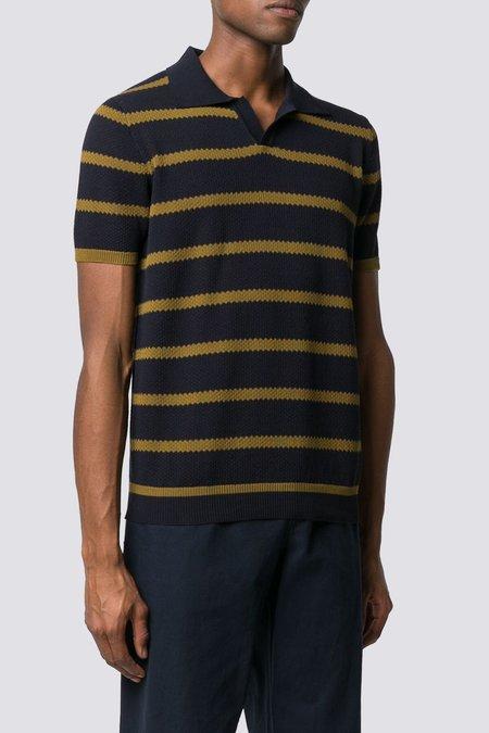 Roberto Collina Knit Polo - Navy/Olive