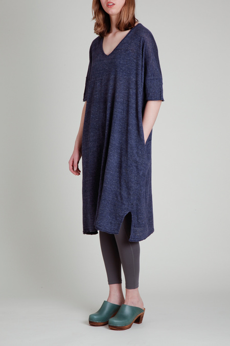 CT Plage Linen Drape Dress