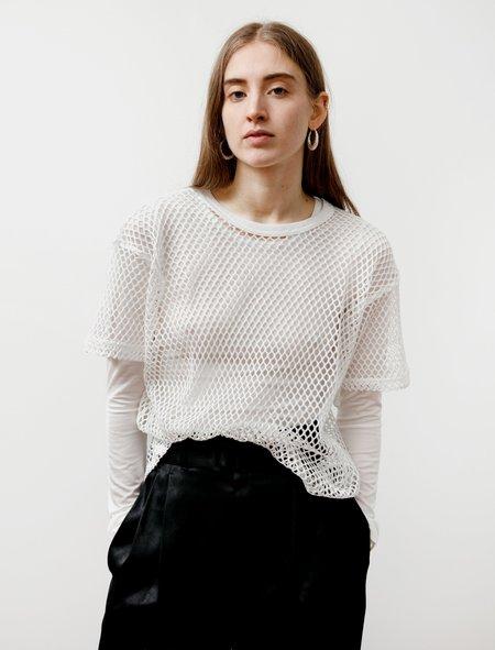 Ys by Yohji Yamamoto Big Mesh T Shirt - Off White