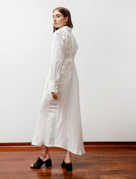 Ys by Yohji Yamamoto Buttoned High Waist Skirt - White