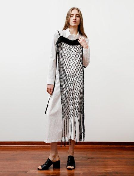 Ys by Yohji Yamamoto Hemp Cording Net Dress