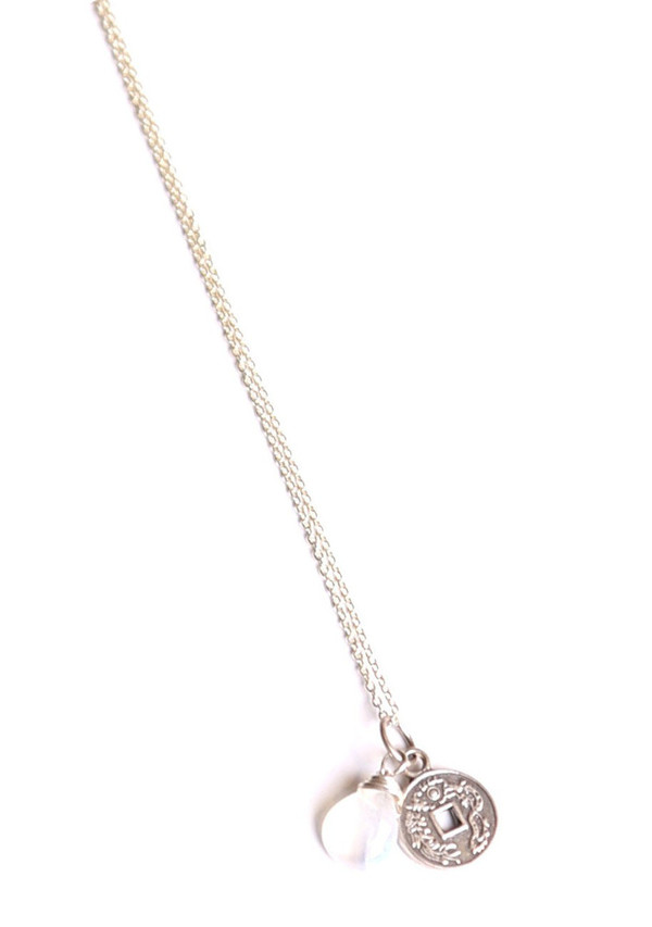Sarah Dunn Moonstone and Charm Necklace