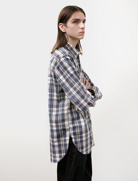 Engineered Garments Work Shirt - Navy / Brown Plaid