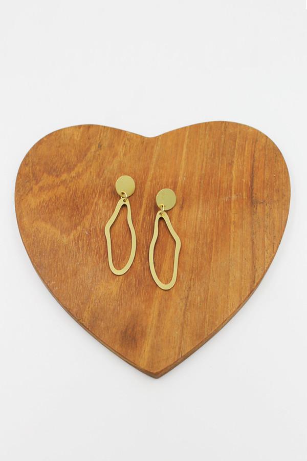 Modern Weaving Oval Drop Earrings