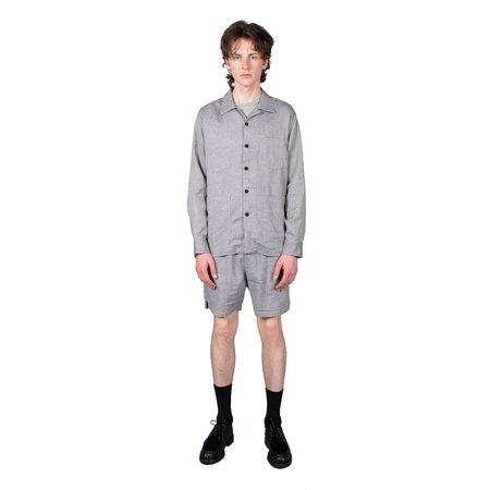 Schnayderman's Melange Shorts Check - Blue / Grey