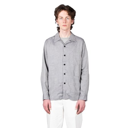 Schnayderman's Overshirt Boxy Melange Check - Blue / Grey
