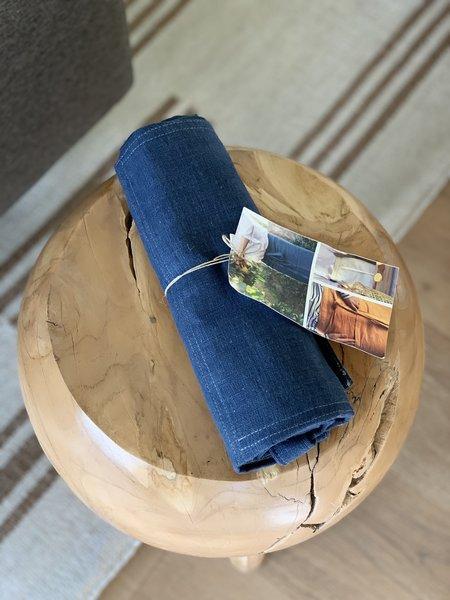 Domecíl Blue Bistro Linen Apron