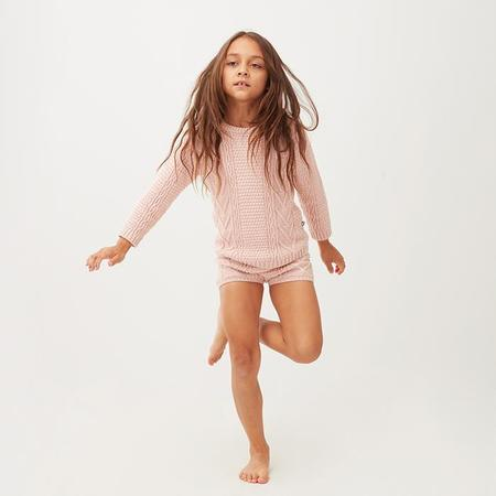 kids Oeuf NYC Baby And Child Cable Knit Shorts - Pink