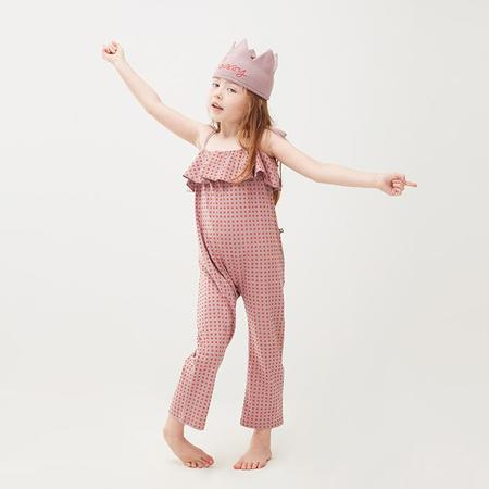 kids Oeuf NYC Baby And Child Ruffle Jumpsuit - Pink