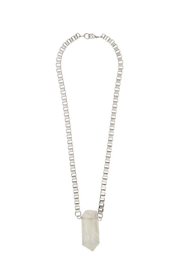 Ali Grace Box Chain Crystal Necklace