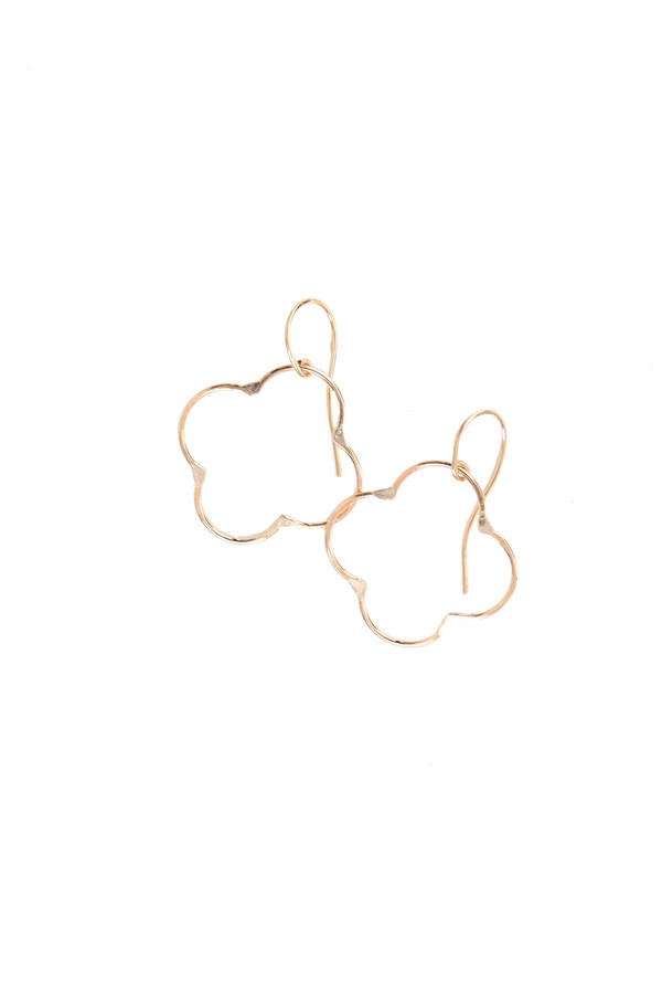 Amy Nordstrom Clover Hoop Earrings