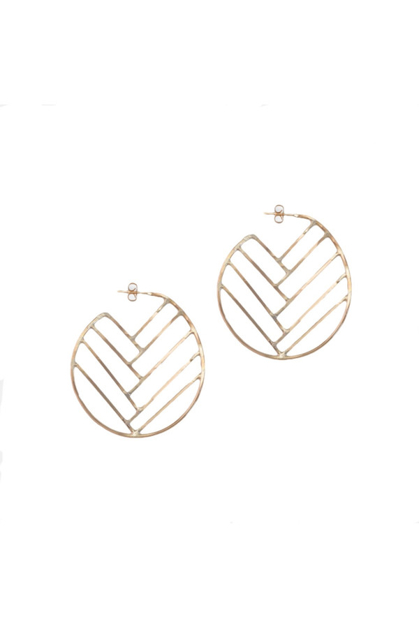 Amy Nordstrom Selenite Hoops
