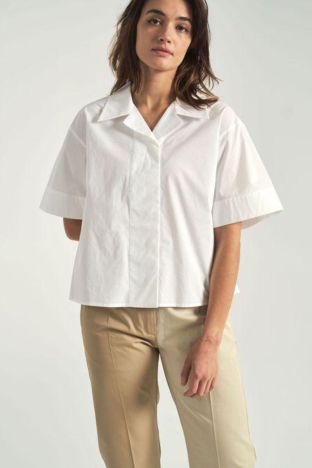 Maison Margiela Boxy Button Up Shirt - white