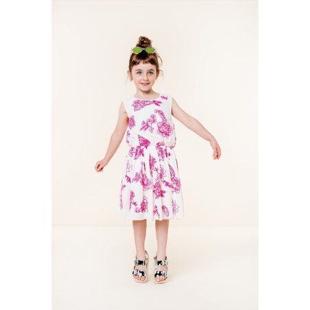 kids oilily ditte dress - white