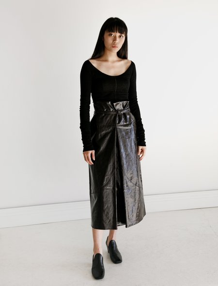 Lemaire Apron Skirt Coated Canvas