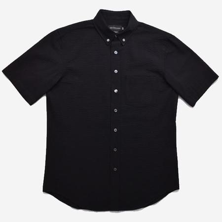 Outclass Attire Short-Sleeve Shirt - Black Seersucker