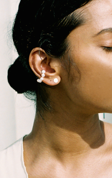 Beatriz Palacios Mismatched Glass Drop Earrings