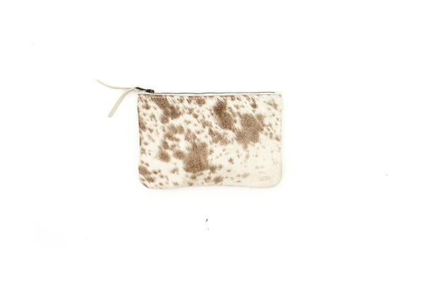 CHAMPAGNE SPOTTED MEDIUM POUCH