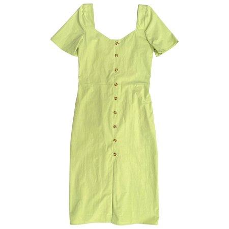 Diarte MAFE COTTON DRESS - LIME