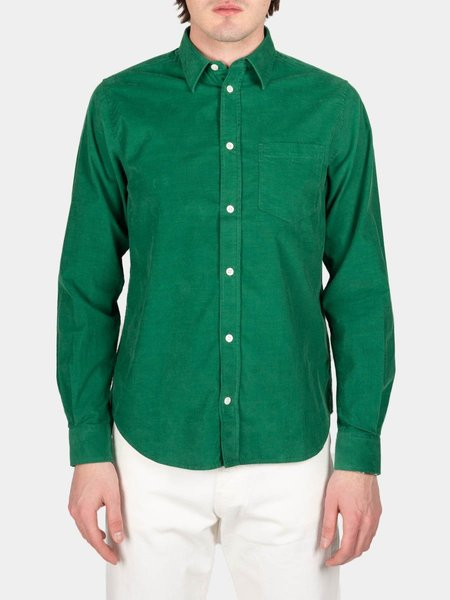 Norse Projects Osvald Corduroy Shirt - Sporting Green