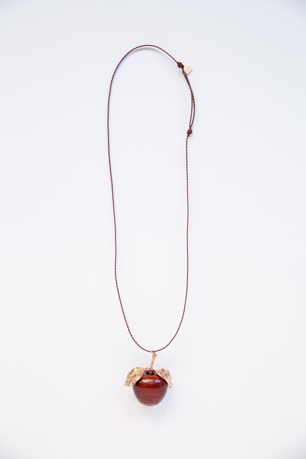 renard bijous,renard bijoux,renard bijoux necklace renard bijoux apple long necklace
