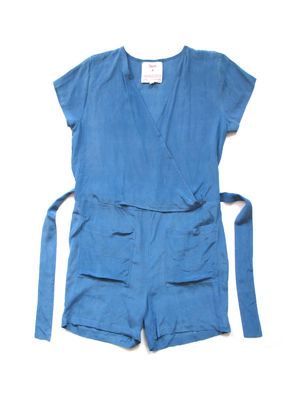 Seek Collective Sample Sale / Shorts Jumpsuit, solid indigo
