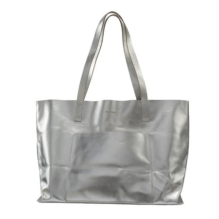 Lima Sagrada Weekend Tote - Smooth Silver Leather