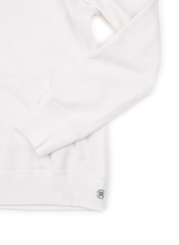 Reigning Champ Knit Mid Weight Terry Pullover Hoodie Winter White