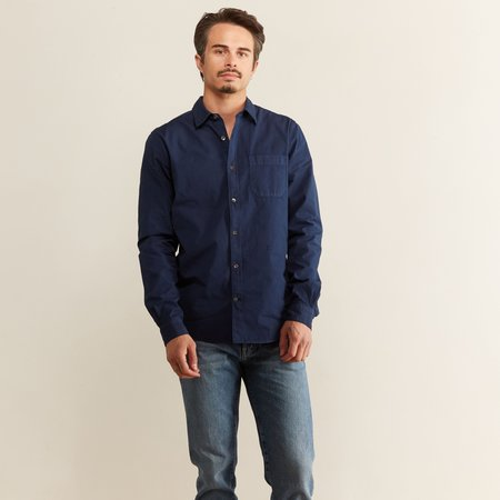 Closed Poplin Shirt - China Blue