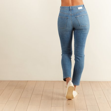CQY Denim BFF High Rise Straight Leg Jeans - Joy
