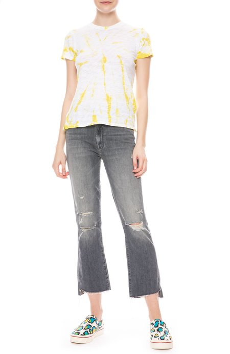 Mother Denim Insider Crop Step Fray Jean - Ace of Spades
