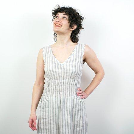 modaspia Fiji Dress - French Linen Stripe