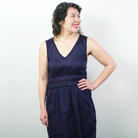 modaspia Fiji Dress - Red Polka Dot Cotton