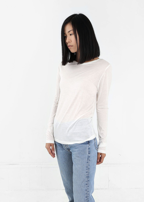 Baserange Off White Long Sleeve Tee