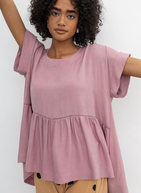 Seek Collective Zoe Top - lilac silk jacquard