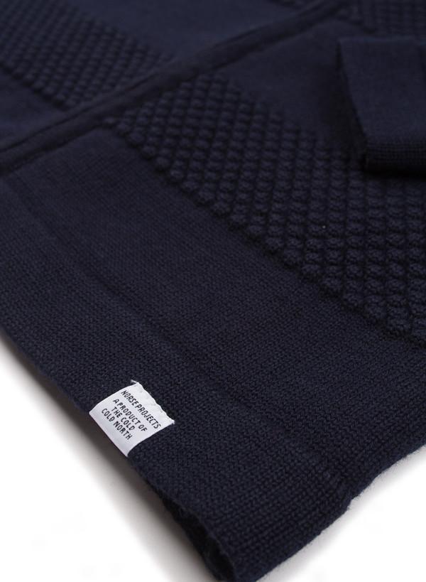Norse Projects Skagen Zip Wool Navy
