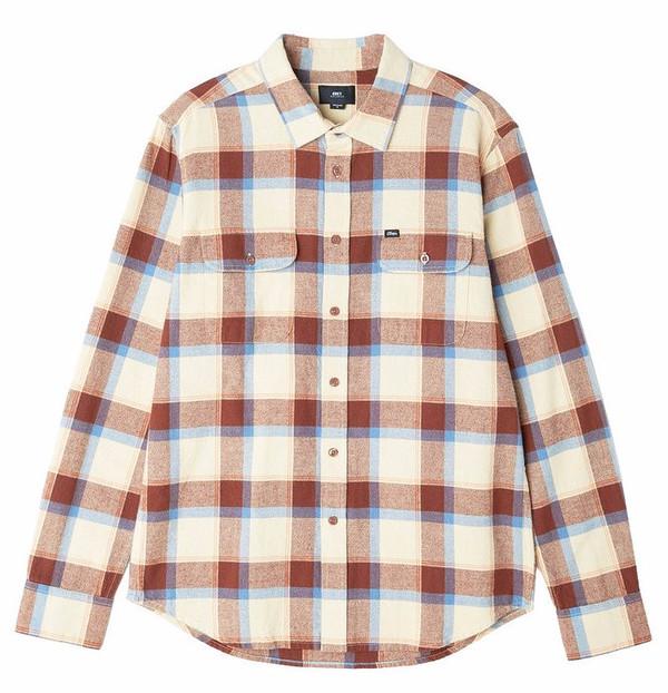 Men's Obey Gower Khaki Flannel