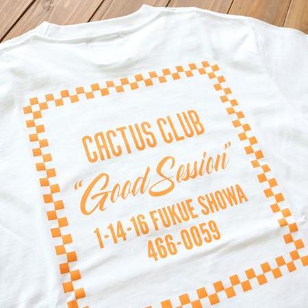 Cactus Club Checker Store T Shirt - white