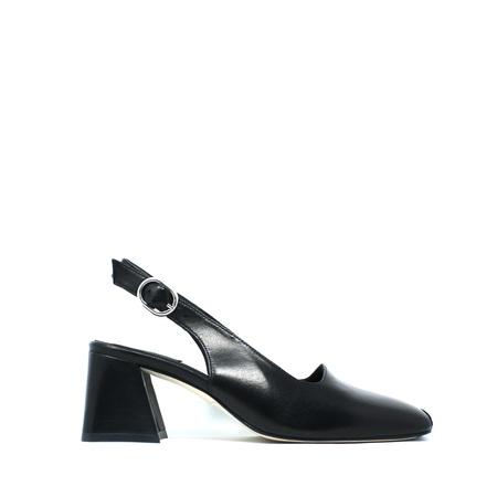 Miista Canar Leather Heels - Black