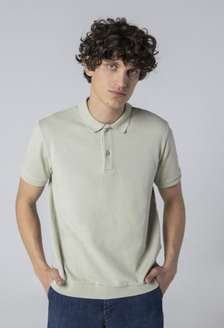 unfeigned sweat polo shirt in eucalyptus