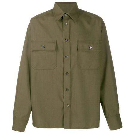 Marni Pocketed Shirt Jacket - FOREST