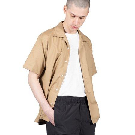 Goldwin Open Collar S/S Shirt - Beige