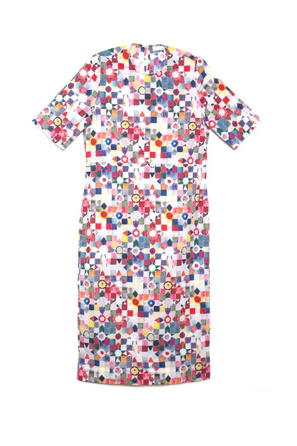 Carleen Half-sleeve Midi Dress
