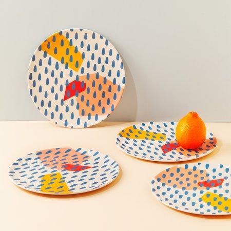 Poketo Bamboo Dinner Plate Set - Drops