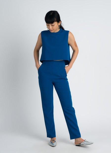 KAAREM Sam High-Waisted Pocket Pant - Blue