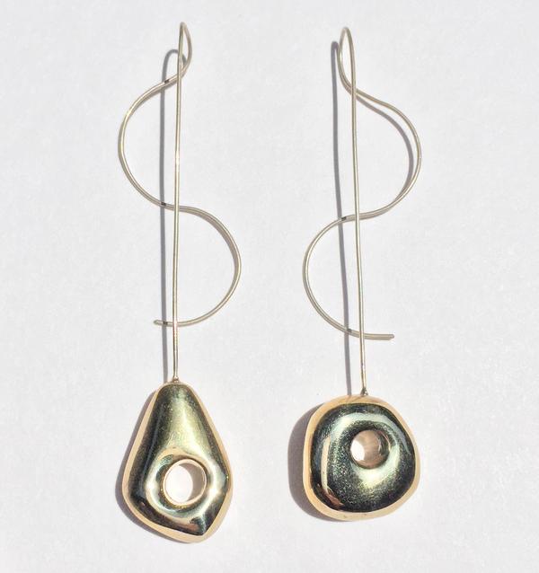 Leigh Miller Two-Tone Hepworth Drop Earrings