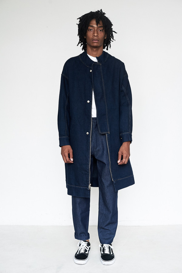 Eckhaus Latta Denim Flasher Coat