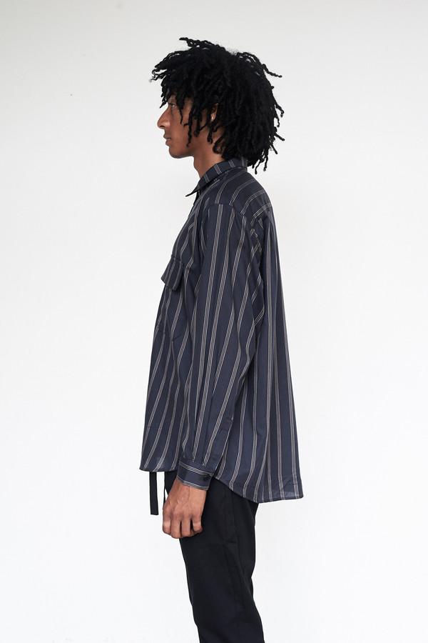 Unisex Assembly New York Tencel Stripe Poet Shirt