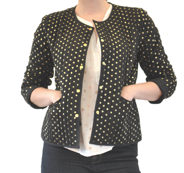 "Storm + Marie Storm & Marie ""Issy"" Black Jacket w/ Gold Spots"