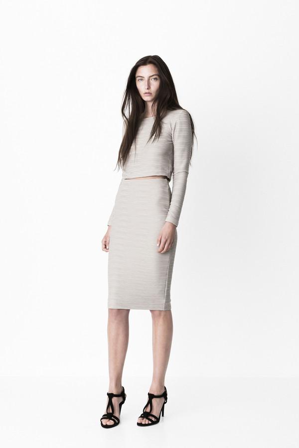 """Storm + Marie Storm & Marie """"Mollie"""" Textured Jersey Skirt"""